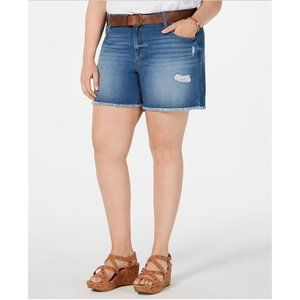 Style & Co Jean Shorts Spice Blue 20W New